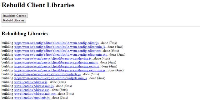 dev-eth0 de - AEM: Rebuild Client Libraries